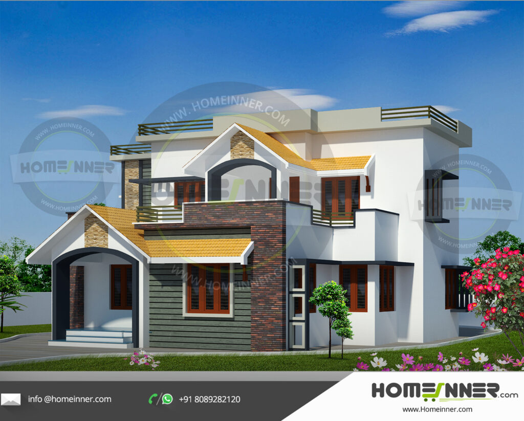 Grapevine Home design residential architecture 4 BHK 2962 sq ft villa house plans