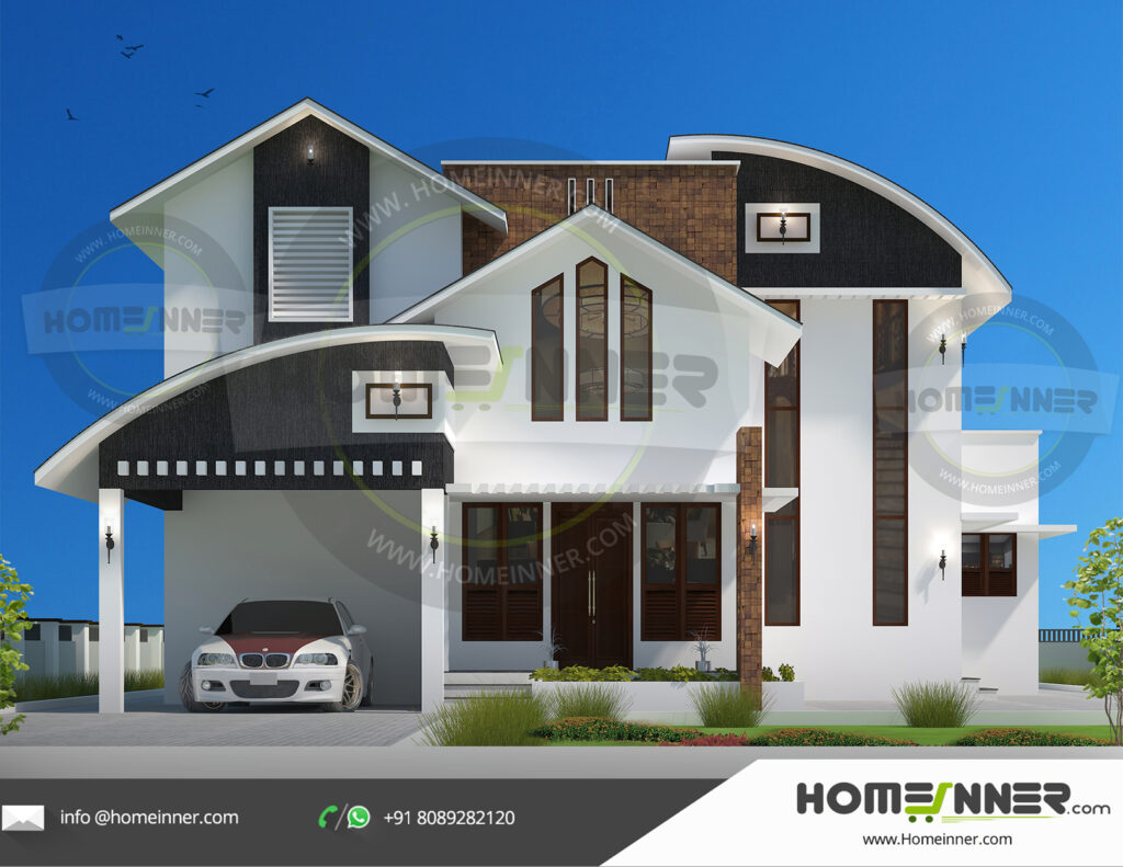 Grand Junction Home design residential architecture 4 BHK 2335 sq ft villa house plans