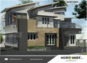 Elyria Home design residential architecture 4 BHK 3686 sq ft villa house plans