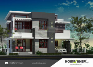Great Falls Home design residential architecture 4 BHK 1518 sq ft villa house plans