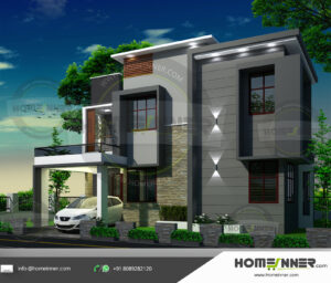 Warner Robins Home design residential architecture 4 BHK 1807 sq ft villa house plans