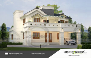 Chico Home design residential architecture 4 BHK 3348 sq ft villa house plans