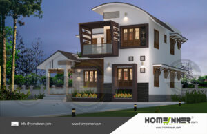 Chico Home design residential architecture 3 BHK 1628 sq ft villa house plans