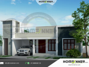 Chico Home design residential architecture 3 BHK 1236 sq ft villa house plans