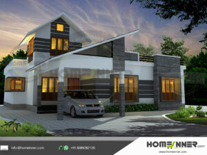 Coon Rapids Home design residential architecture 3 BHK 1846 sq ft villa house plans