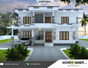 Southfield Home design residential architecture 4 BHK 2121 sq ft villa house plans