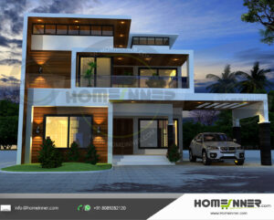 Margate Home design residential architecture 4 BHK 2924 sq ft villa house plans