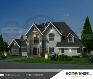 Huntington Home design residential architecture 4 BHK 3184 sq ft villa house plans
