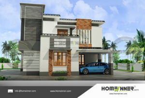Baton Rouge Home design residential architecture 4 BHK 2058 sq ft villa house plans