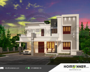 Yucaipa Home design residential architecture 4 BHK 2603 sq ft villa house plans