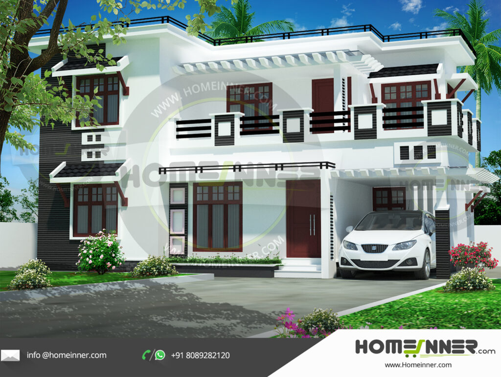 Gilroy Home design residential architecture 4 BHK 1875 sq ft villa house plans