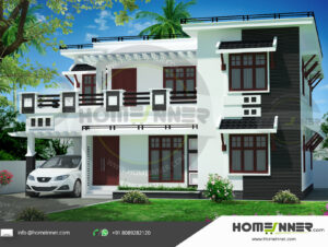 Centralafrican Home design residential architecture 4 BHK 1871 sq ft villa house plans