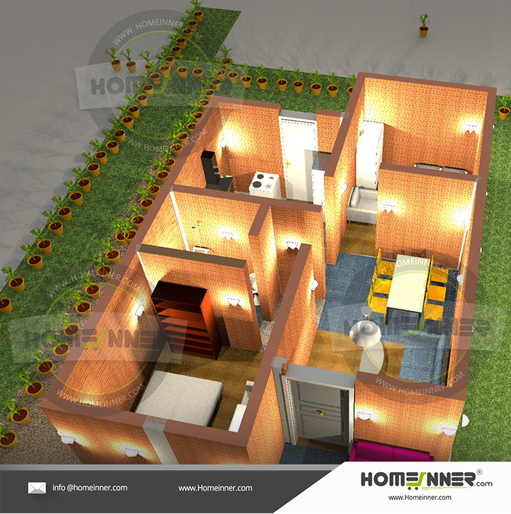 2 bedroom house plans without garage