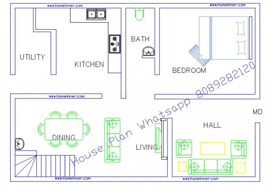 800 sq ft Cost Effective House Images